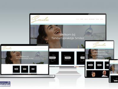Website gerealiseerd voor tandartspraktijk Smilez