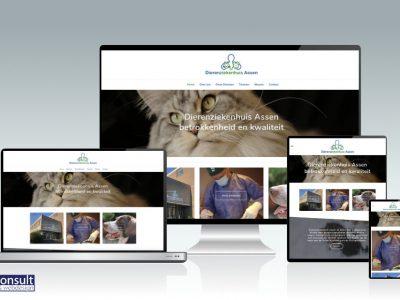 Website Dierenziekenhuis Assen live!
