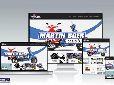 Website Martin Boer Scooters totaal vernieuwd