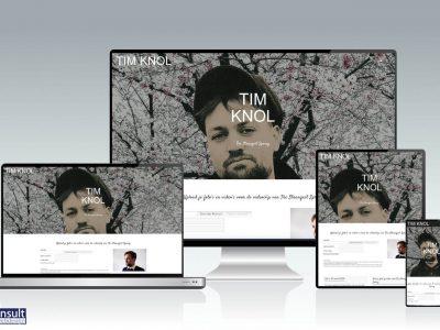 Tim Knol: The Strangest Spring, website gerealiseerd door RAN E-Consult