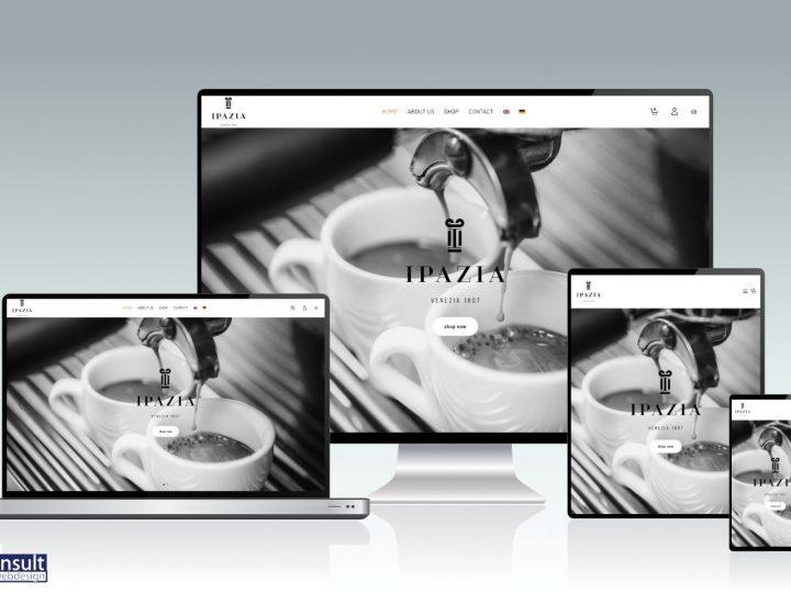 Ipazia Caffè: webshop gerealiseerd door RAN E-Consult