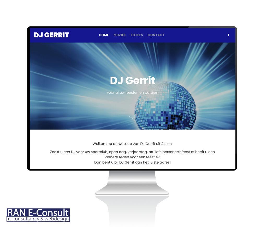 DJ Gerrit Assen, website door RAN E-Consult