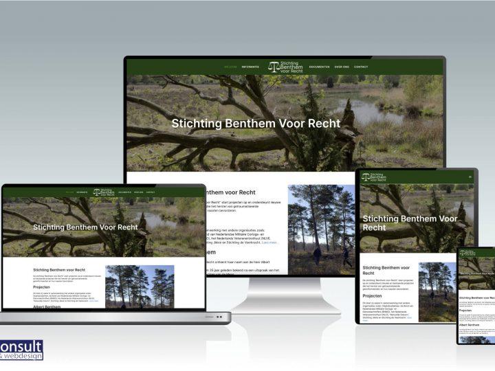 Nieuw: website Stichting Benthem voor Recht