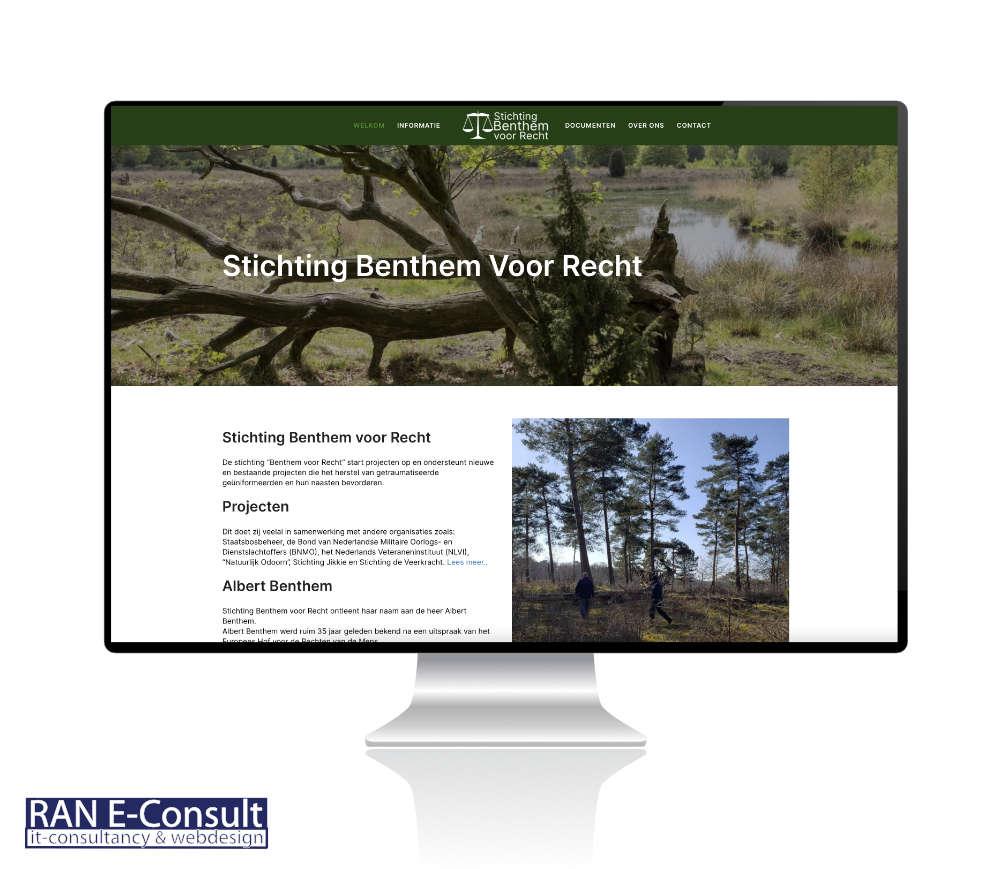Stichting Benthem voor Recht website door RAN E-Consult